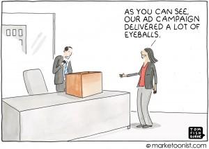 advertisnig metrics cartoon